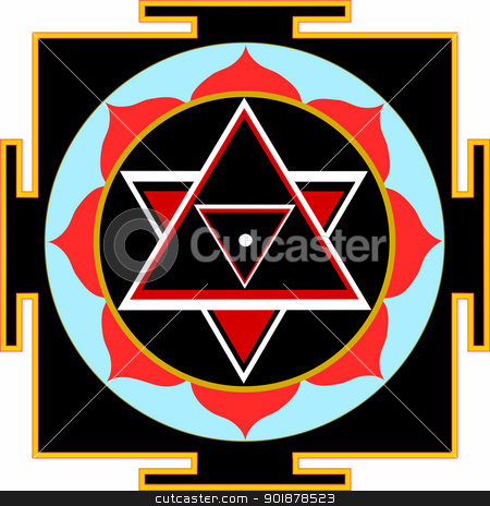 Shri Shiva-Yantra stock vector clipart, Sacred Yantra of Lord Shiva by Viacheslav Belyaev