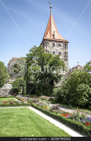 Castle of Nuremberg Bavaria Germany stock photo, An image of the Castle of Nuremberg Bavaria Germany by Markus Gann
