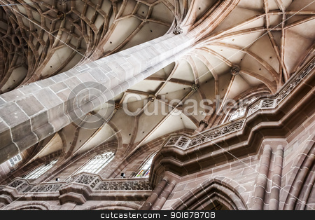 Nuremberg church inside stock photo, An image of a Nuremberg church inside by Markus Gann