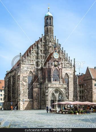 church Nuremberg Bavaria Germany stock photo, An image of a nice church in Nuremberg Bavaria Germany by Markus Gann