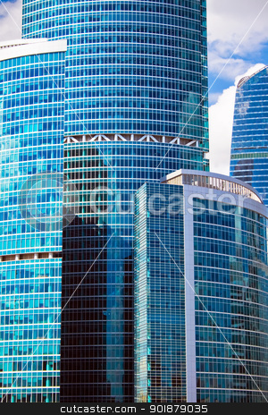Business Skyscrapers stock photo, Skyscrapers in the International Business Centre, Moscow, Russia by Alexey Popov