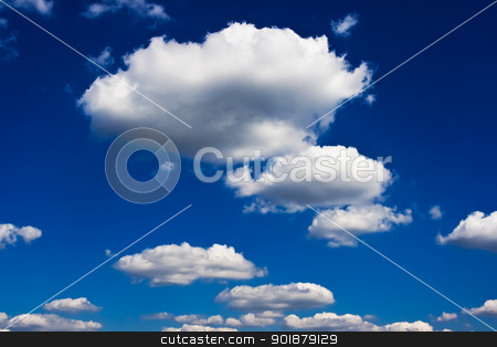 Sky and clouds stock photo, Blue cloudy sky by Alexey Popov