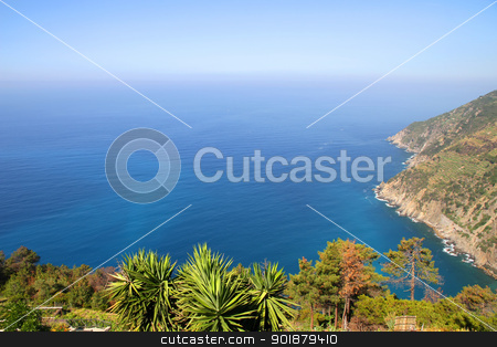 View on the coast of Cinque Terre stock photo, View on the coast of Cinque Terre, Italy. by Michael Osterrieder