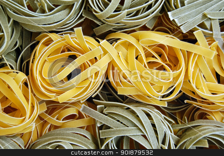tagliatelle pasta food background stock photo, Flavors of fresh tagliatelle pasta. Italian food background. by sirylok
