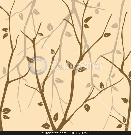 Abstract Autumn leaves stock vector clipart, Abstract Autumn leaves background by meikis