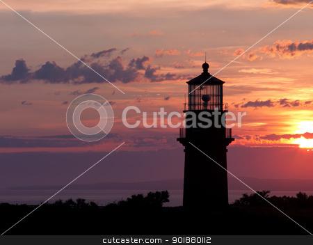 lighthouse sun stock photo, lighthouse sun by Dunning Adam Kyle