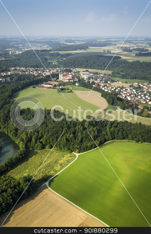 flight over Bavaria stock photo, An image of a flight over the bavarian landscape by Markus Gann