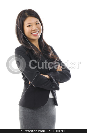 Asian woman. stock photo, Smiling Asian Educational / Business woman. by szefei