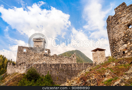 St. Micheal Castle in Ossana stock photo, St. Micheal Castle in Ossana Trentino, Italy, by Alberto Rigamonti