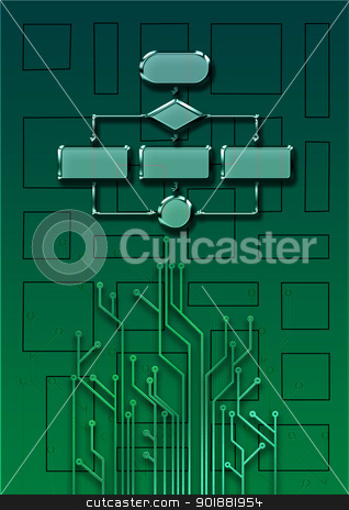 Empty flow chart diagram stock photo, Empty flow chart diagram use for programming by Anatolii Vasilev