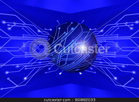 Circuit Board stock photo, Electric board for installation of the electronic scheme by Anatolii Vasilev