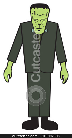 Cartoon FrankNStein stock vector clipart, A cartoon depiction of the classic Frankenstein's monster. by Jamie Slavy
