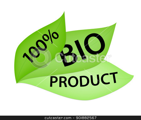 100% Bio Product Label stock vector clipart, Green label with 100% Bio Product tag by Ludek Vodicka
