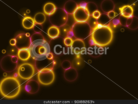 Shiny Red and Yellow Circles Background stock vector clipart, Abstract background with shiny red and yellow circles by Ludek Vodicka