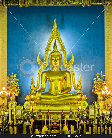Sukhothai-style Buddha statue stock photo,  by boonsom