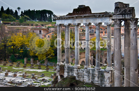 Forum Romanum  stock photo, famous historic Forum Romanum in the centre of Rome by Juliane Jacobs