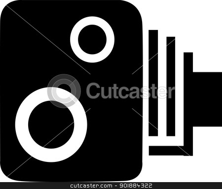Speeding Camera. stock vector clipart, A traditional speeding camera, the bane of all motorists. by Kotto
