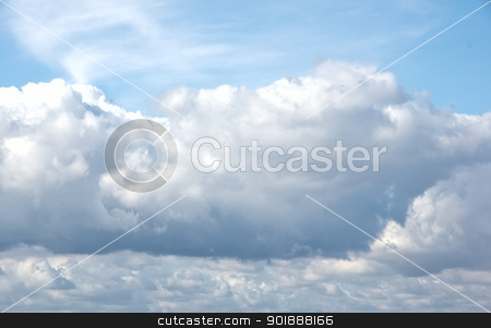 Beautiful Summer Clouds stock photo, Puffy summer clouds background image by Cheryl Valle