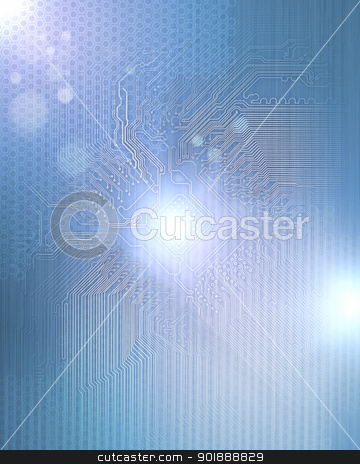 Electric scheme for design use. stock photo, Electric scheme for design use. Colour illustration by Sergey Nivens