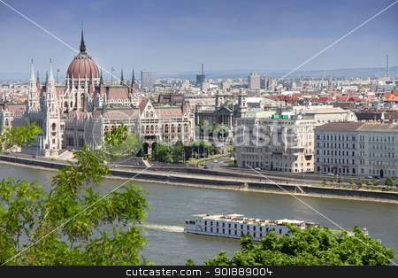 Budapest, Hungary stock photo, The parliament building in Budapest, Hungary by vladacanon1