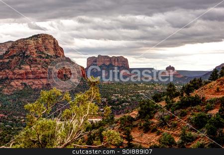Red Rock Mountains Sedona, Arizona stock photo, Scenic HDR landscape red rock mountains Sedona, Arizona by Cheryl Valle