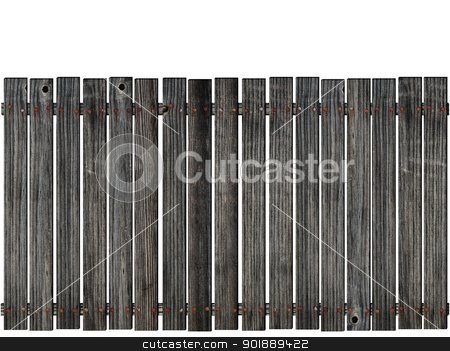 fence stock photo, wooden fence over the white background  by Sergej Razvodovskij