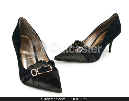 Woman classic shoes stock photo, Woman classic shoes over white background  by Sergej Razvodovskij