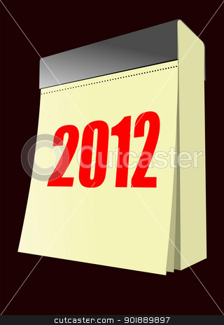 Vector illustration of tear-off calendar stock vector clipart, Vector illustration of tear-off calendar by Leonid Dorfman