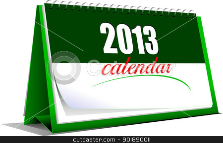 Vector illustration of desk calendar. 2013 year stock vector clipart, Vector illustration of desk calendar. 2013 year by Leonid Dorfman
