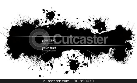 Grunge blot banner. Vector illustration for designers stock vector clipart, Grunge blot banner. Vector illustration for designers by Leonid Dorfman
