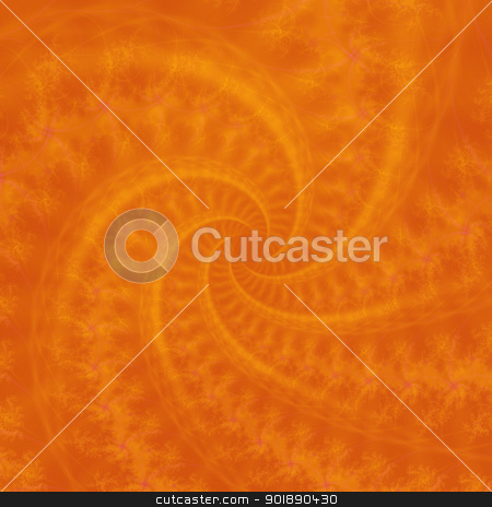 Orange Contrail Spiral stock photo, Digital abstract image with an orange contrail spiral design. by Colin Forrest