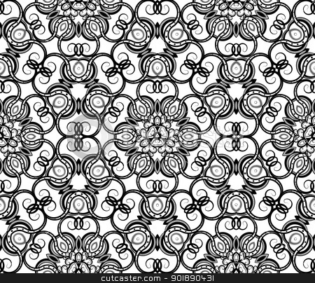 Seamless ornamental wallpaper stock vector clipart, Seamless ornamental wallpaper by Moenez