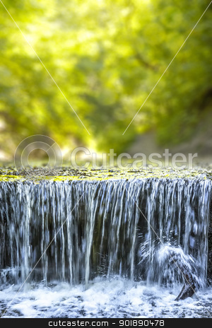 Pähler Schlucht waterfall stock photo, An image of the nice waterfall at the Pähler Schlucht in Bavaria Germany by Markus Gann