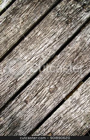 Wooden texture on boardwalk stock photo, Wooden texture on boardwalk by Patipat Rintharasri