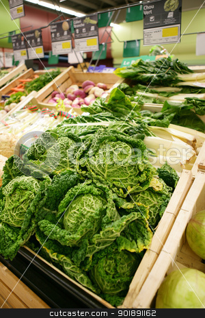 Vegetable market stock photo, Vegetable market by photography33
