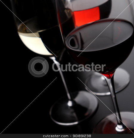 Three glasses of wine stock photo, Three glasses of wine by photography33