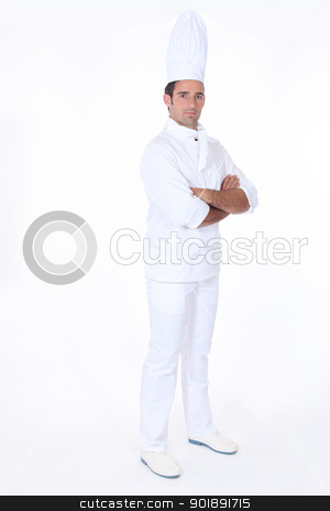 Chef with arms crossed stock photo, Chef with arms crossed by photography33