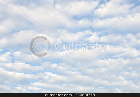 White clouds over blue sky stock photo, White sparse clouds over blue sky by chatchai
