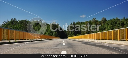 The road bridge over the dam stock photo, The road bridge over the dam by Ondrej Vladyka