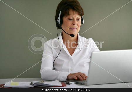 A confident secretary stock photo, A confident secretary by photography33