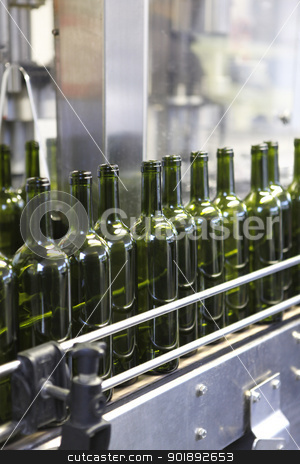 Bottling line stock photo, Bottling line by photography33