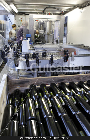 Bottling facility stock photo, Bottling facility by photography33