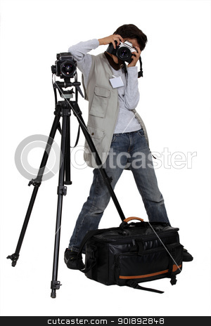 Professional photographer stock photo, Professional photographer by photography33