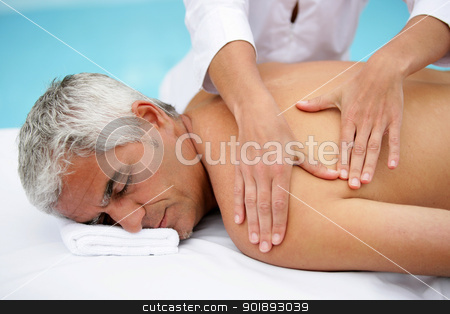 Man in massage parlor stock photo, Man in massage parlor by photography33
