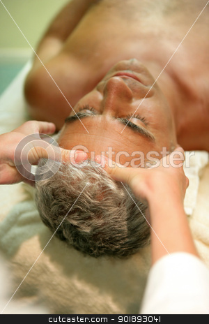 Man receiving massage stock photo, Man receiving massage by photography33