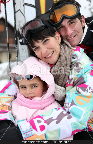 Couple on skiing holiday stock photo, Couple on skiing holiday by photography33