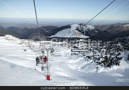 Mountain chairlift stock photo, Mountain chairlift by photography33