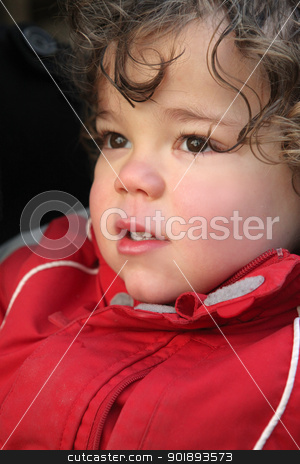 little boy wearing winter jacket stock photo, little boy wearing winter jacket by photography33
