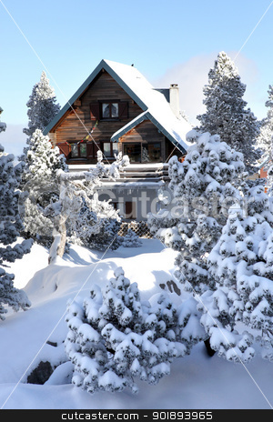 Mountain chalet stock photo, Mountain chalet by photography33