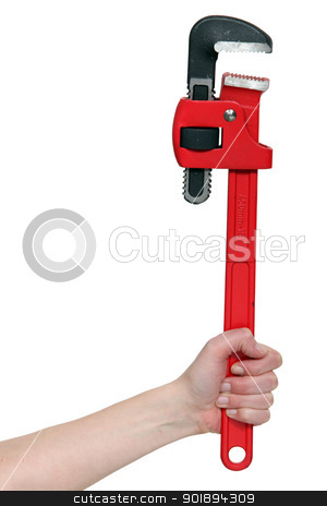 Need a pipe wrench? stock photo, Need a pipe wrench? by photography33